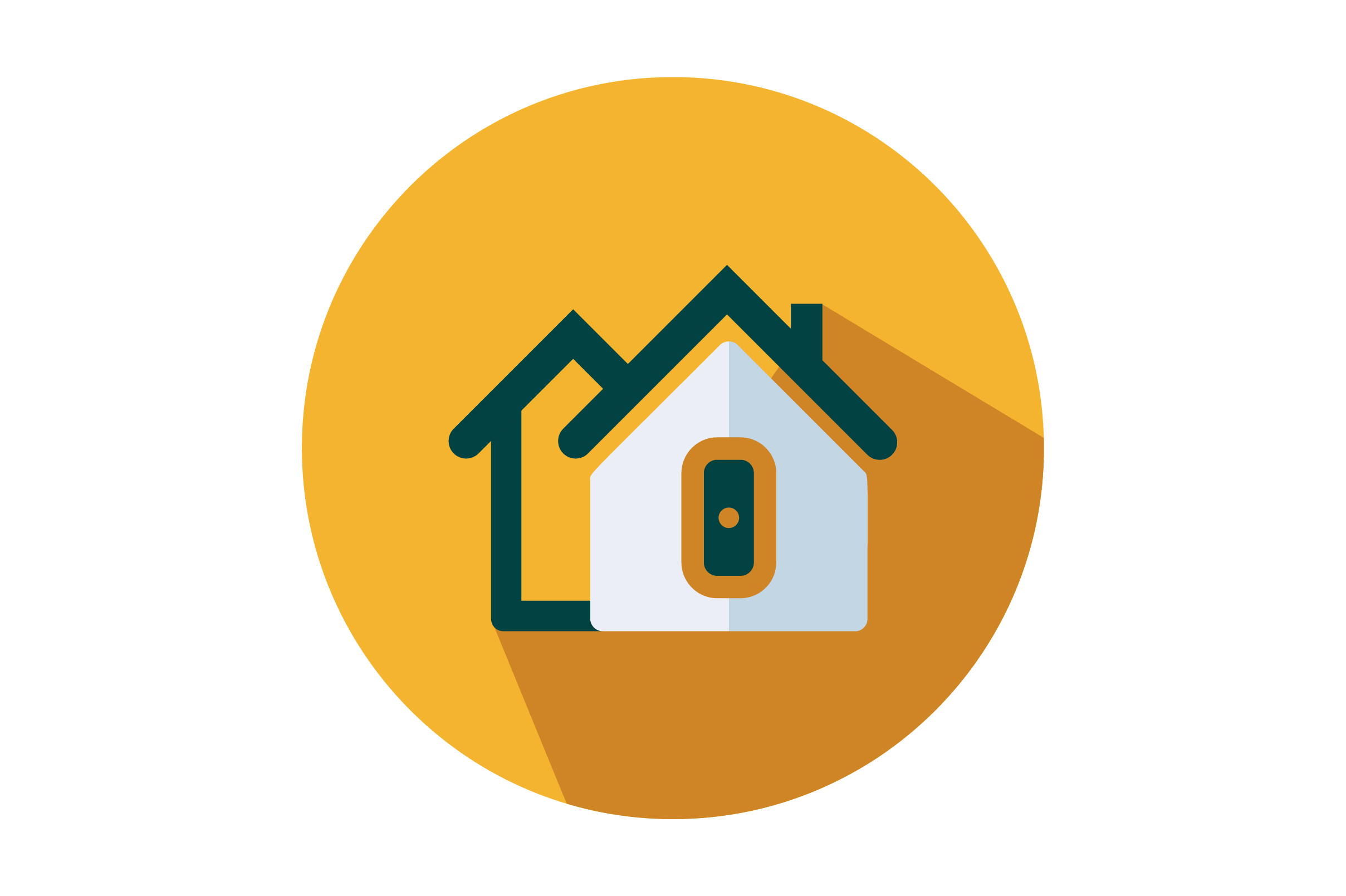 Download Free Real Estate Home Flat Vector Icon Graphic By Riduwan Molla for Cricut Explore, Silhouette and other cutting machines.