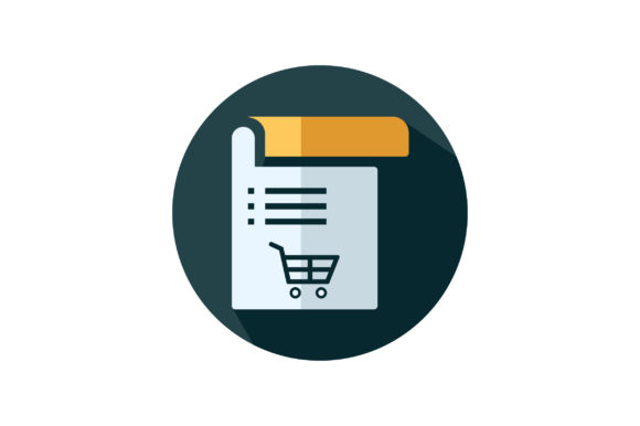 Download Free Shopping Cart List Flat Icon Graphic By Riduwan Molla Creative for Cricut Explore, Silhouette and other cutting machines.