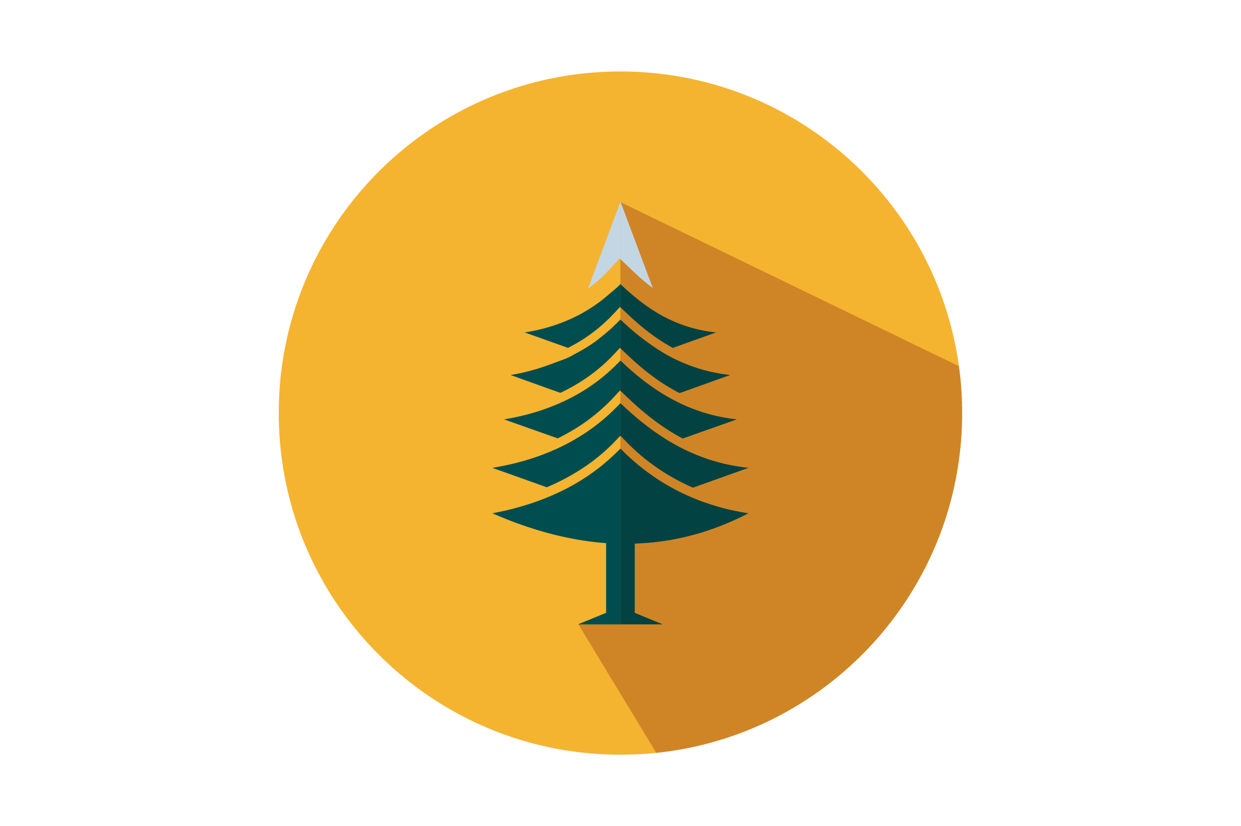 Download Free Tree Flat Icon Vector Graphic By Riduwan Molla Creative Fabrica for Cricut Explore, Silhouette and other cutting machines.