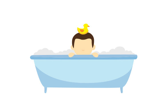 Download Free Child Taking Bath Svg Cut File By Creative Fabrica Crafts for Cricut Explore, Silhouette and other cutting machines.