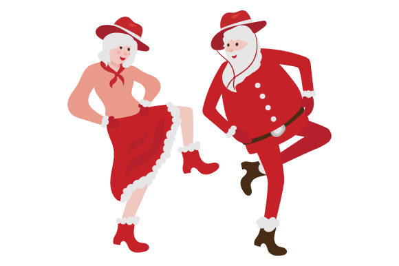 Download Free Santa And Mrs Claus Line Dancing Together Svg Cut File By for Cricut Explore, Silhouette and other cutting machines.