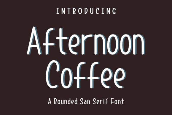 Print on Demand: Afternoon Coffee Sans Serif Font By sandylukee