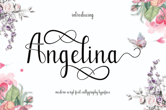 Print on Demand: Angelina Script & Handwritten Font By MYdesign - Image 1