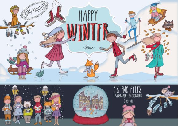Big Bundle Clipart Characters Graphic Illustrations By CuteLittleClipart - Image 10
