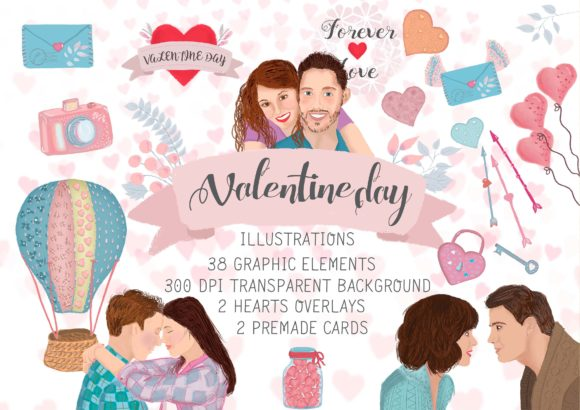 Big Bundle Clipart Characters Graphic Illustrations By CuteLittleClipart - Image 12