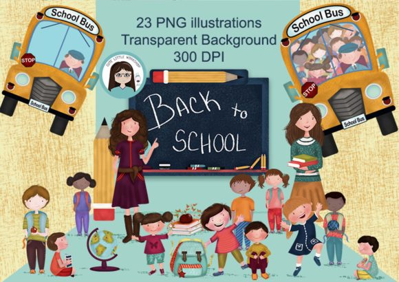 Big Bundle Clipart Characters Graphic Illustrations By CuteLittleClipart - Image 2