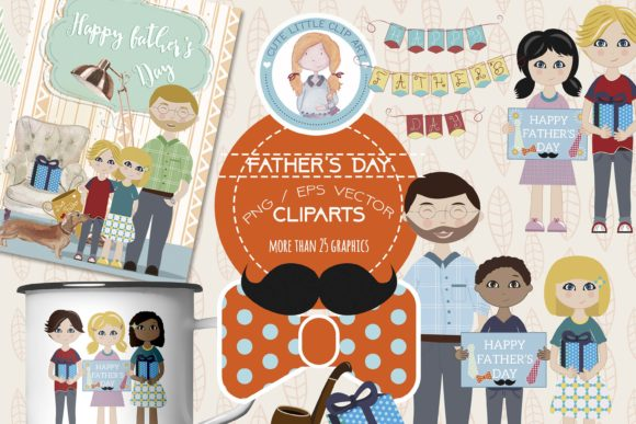 Big Bundle Clipart Characters Graphic Illustrations By CuteLittleClipart - Image 3