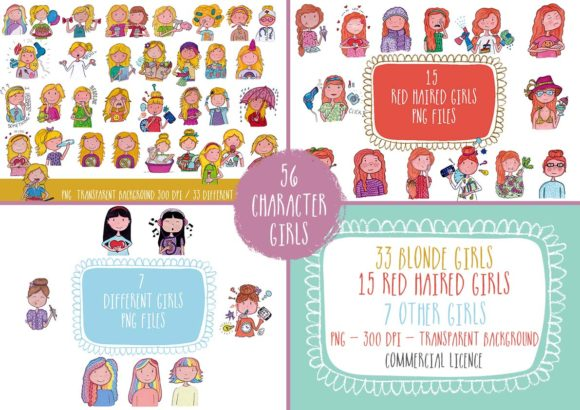 Big Bundle Clipart Characters Graphic Illustrations By CuteLittleClipart - Image 5