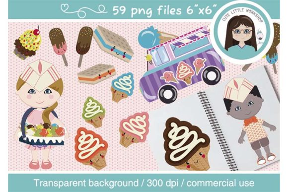 Big Bundle Clipart Characters Graphic Illustrations By CuteLittleClipart - Image 7