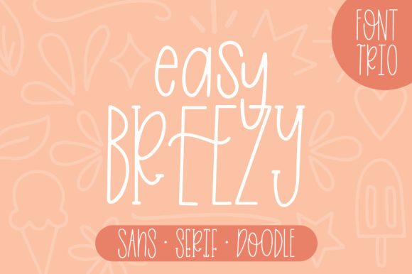 Print on Demand: Easy Breezy Sans Serif Font By jordynalisondesigns - Image 1