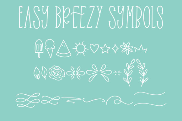Print on Demand: Easy Breezy Sans Serif Font By jordynalisondesigns - Image 5