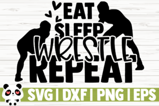 Download Free Eat Sleep Wrestle Repeat Graphic By Creativedesignsllc for Cricut Explore, Silhouette and other cutting machines.