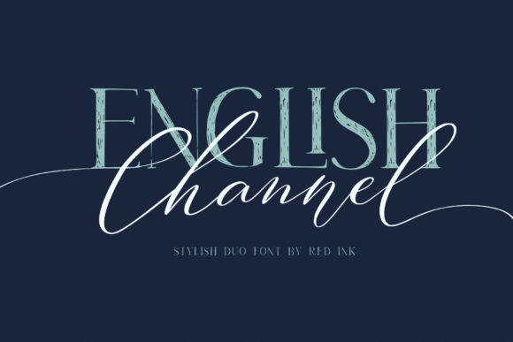 Print on Demand: English Channel Duo Script & Handwritten Font By Red Ink