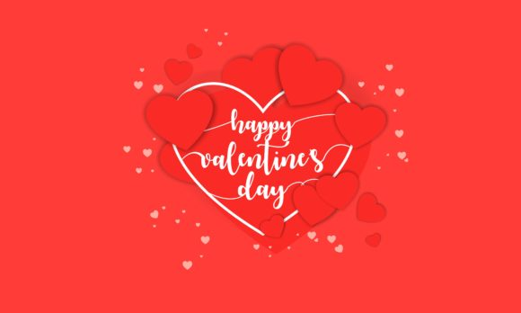 Download Free Happy Valentine S Day Background Vector Graphic By Deemka Studio for Cricut Explore, Silhouette and other cutting machines.