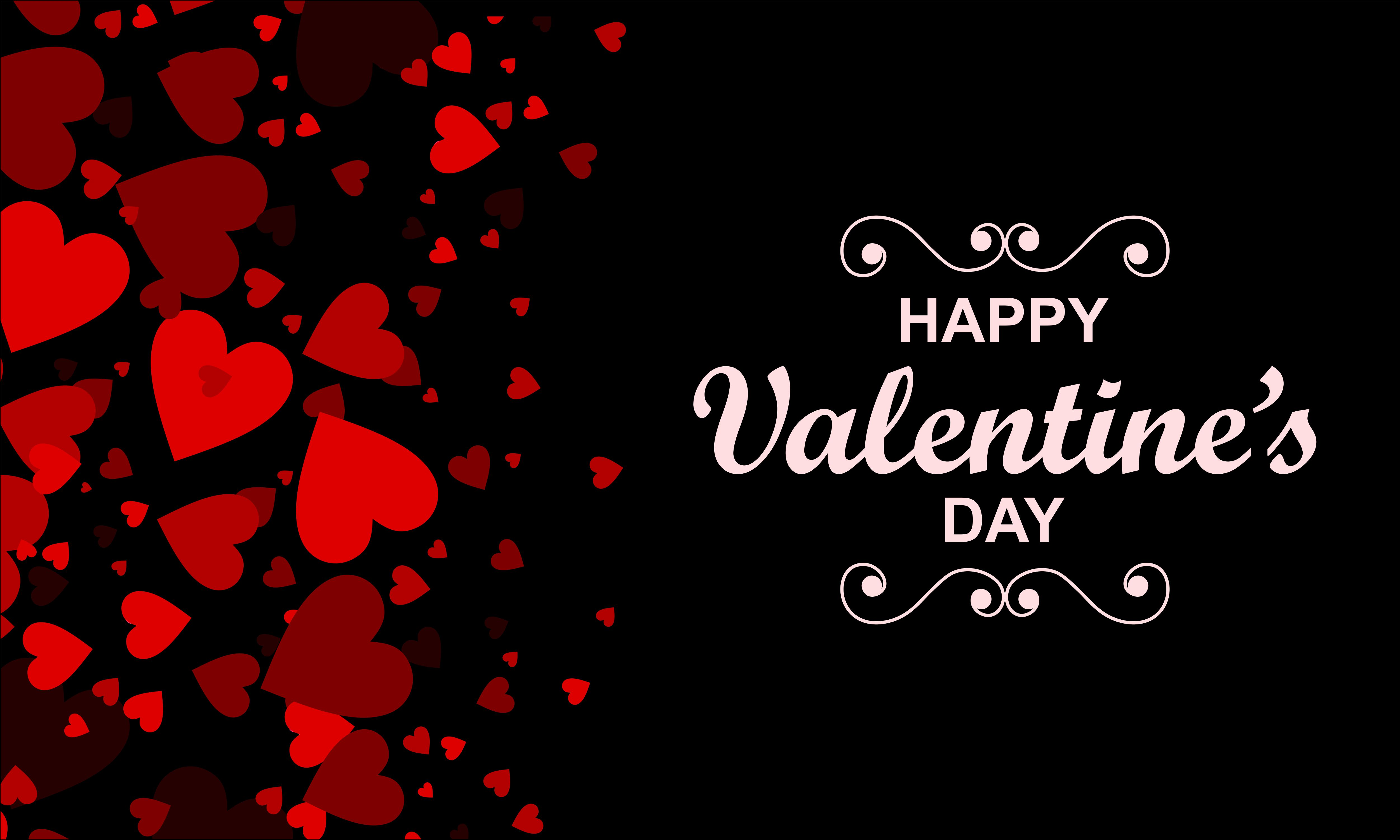 Happy Valentine S Day Background Vector Graphic By Deemka Studio Creative Fabrica
