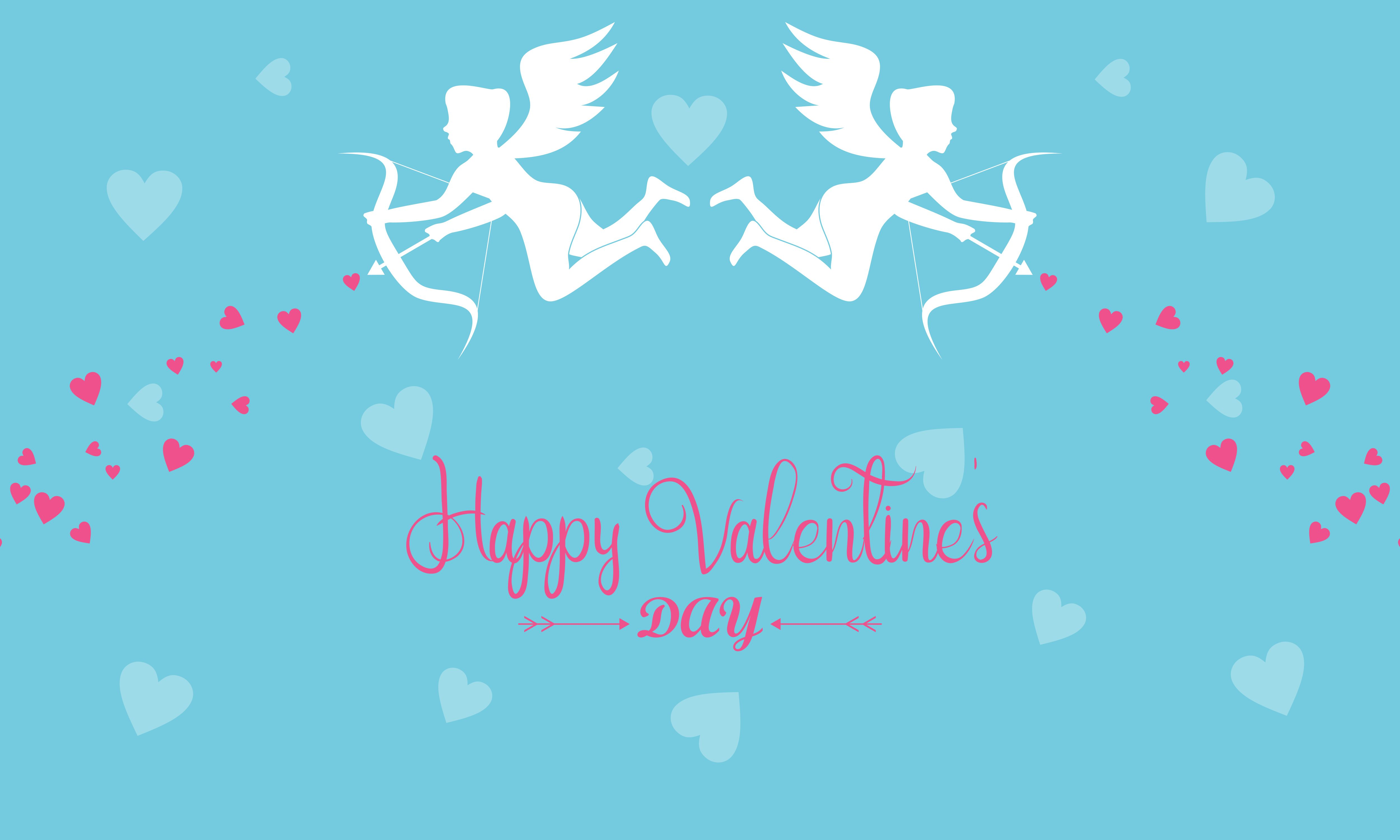 Download Free Happy Valentines Day Cupid Or Angel Logo Graphic By Deemka for Cricut Explore, Silhouette and other cutting machines.