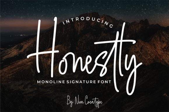 Print on Demand: Honestly Script & Handwritten Font By Nun Creatype - Image 1