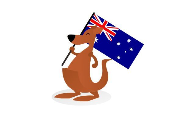 Download Free Kangaroo Bring Australia Flag Graphic By Therintproject for Cricut Explore, Silhouette and other cutting machines.