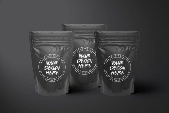 Luxury Black Plastic Food Pouch Mockup Graphic Product Mockups By suedanstock
