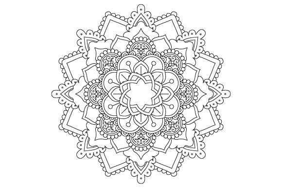 Download Free Mandala Coloring Page Vector Grafik Von Graphicsfarm Creative for Cricut Explore, Silhouette and other cutting machines.