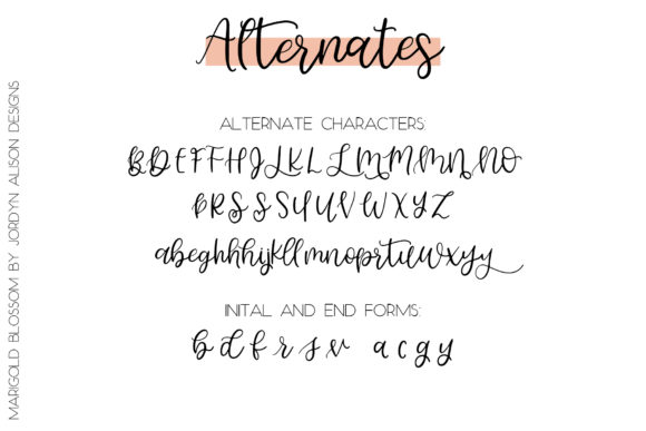 Download Free Marigold Blossom Font By Jordynalisondesigns Creative Fabrica for Cricut Explore, Silhouette and other cutting machines.
