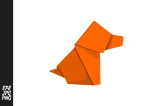 Download Free Origami Dog Graphic By Arief Sapta Adjie Creative Fabrica for Cricut Explore, Silhouette and other cutting machines.