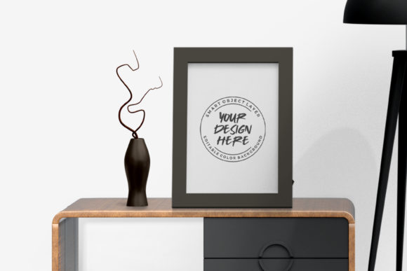 Photo Frame on Table Mockup Template Graphic Product Mockups By suedanstock