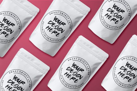 Download Free Plastic Food Pouch Packaging Mockup Graphic By Suedanstock for Cricut Explore, Silhouette and other cutting machines.
