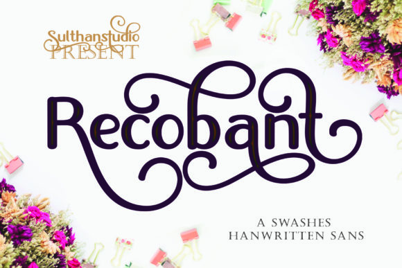 Print on Demand: Recobant Sans Serif Font By Sulthan Studio