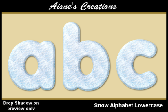 Print on Demand: Snow Alphabet Lowercase Graphic Objects By Aisne