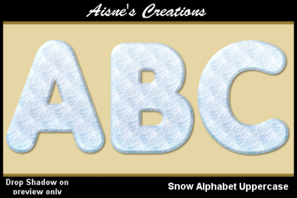 Print on Demand: Snow Alphabet Uppercase Graphic Objects By Aisne