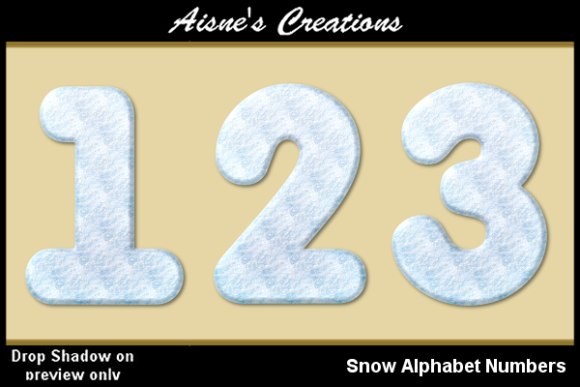 Print on Demand: Snow Numbers Graphic Objects By Aisne