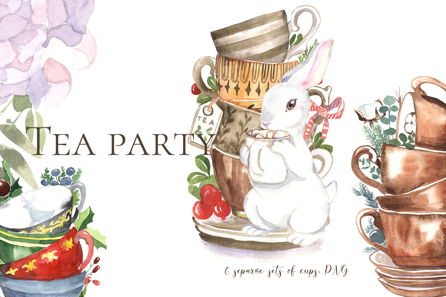 Download Free Cute Tea Party Bunny Graphic By Laffresco04 Creative Fabrica for Cricut Explore, Silhouette and other cutting machines.