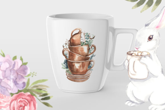 Print on Demand: Cute Tea Party Bunny Graphic Illustrations By laffresco04 - Image 2