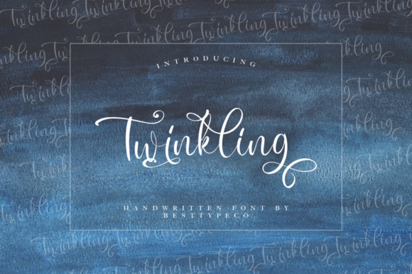 Print on Demand: Twinkling Script & Handwritten Font By besttypeco