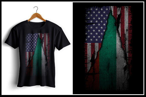 Print on Demand: US and Bulgaria Flag - Tshirt Design Graphic Crafts By zaibbb