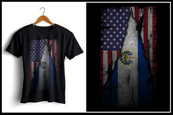 Download Free Us And El Salvador Flag Tshirt Design Graphic By Zaibbb SVG Cut Files