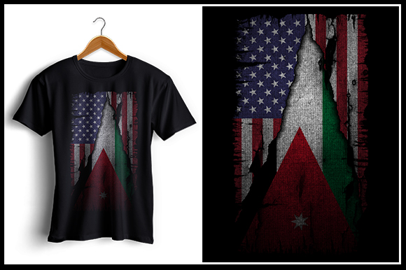 Download Free Us And Jordan Flag Tshirt Design Graphic By Zaibbb Creative for Cricut Explore, Silhouette and other cutting machines.