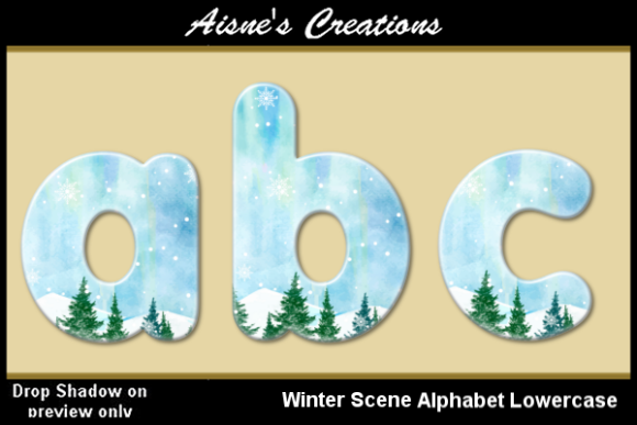 Print on Demand: Winter Scene Alphabet Lowercase Graphic Objects By Aisne