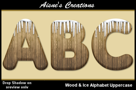Print on Demand: Wood & Ice Alphabet Uppercase Graphic Objects By Aisne