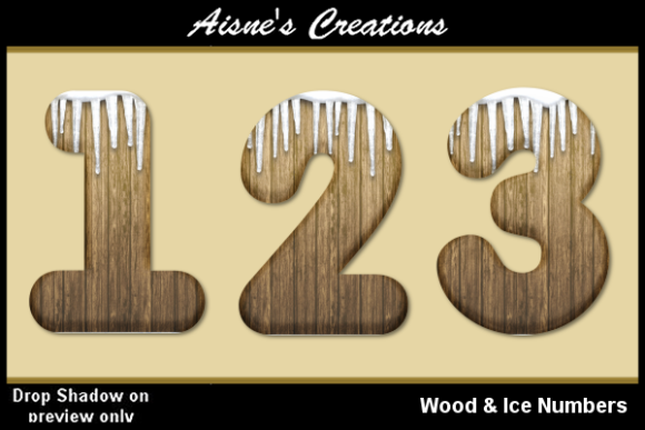 Print on Demand: Wood & Ice Numbers Graphic Objects By Aisne