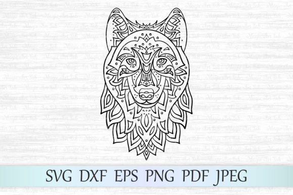 Download Free Zentangle Wolf Graphic By Magicartlab Creative Fabrica for Cricut Explore, Silhouette and other cutting machines.