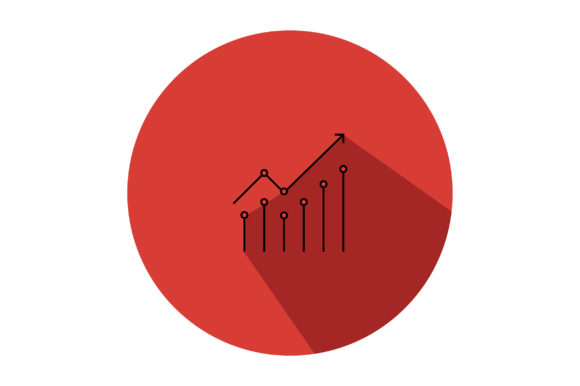 Download Free Business Profit Graph Line Art Icon Graphic By Riduwan Molla for Cricut Explore, Silhouette and other cutting machines.