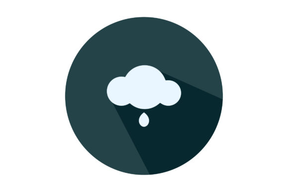 Download Free Cloud With Snow Drop Icon Vector Graphic By Riduwan Molla Creative Fabrica for Cricut Explore, Silhouette and other cutting machines.