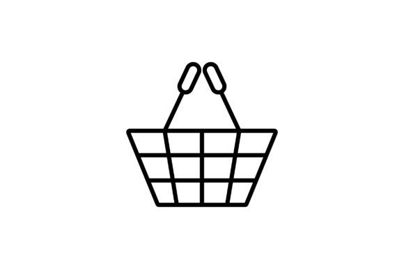 Download Free Shopping Cart Line Art Vector Icon Graphic By Riduwan Molla for Cricut Explore, Silhouette and other cutting machines.