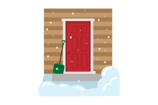 Snow Shovel by Door Winter Craft Cut File By Creative Fabrica Crafts