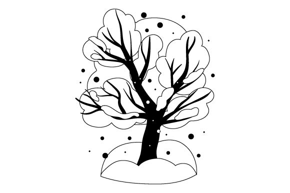 Download Free Tree Covered In Snow Svg Cut File By Creative Fabrica Crafts for Cricut Explore, Silhouette and other cutting machines.