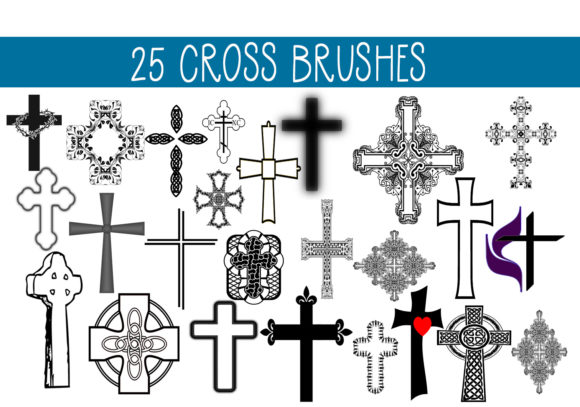 Print on Demand: 25 Cross Brushes Graphic Brushes By capeairforce
