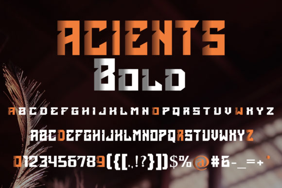 Print on Demand: Acients Display Font By fontkong