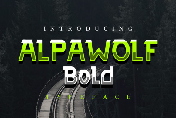 Print on Demand: Alpawolf Bold Display Font By fontkong